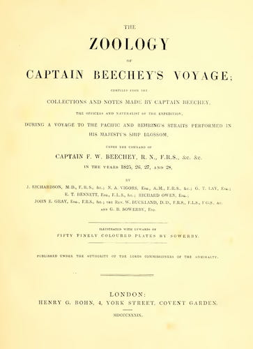 Natural History - The Zoology of Captain Beechey's Voyage