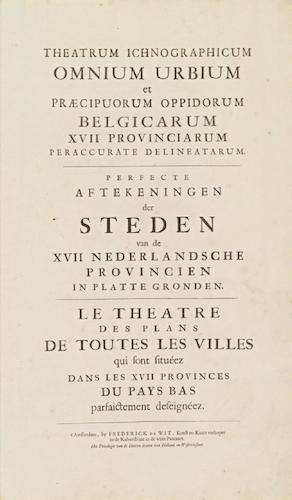 Latin - Theatrum Ichnographicum Omnium Urbium