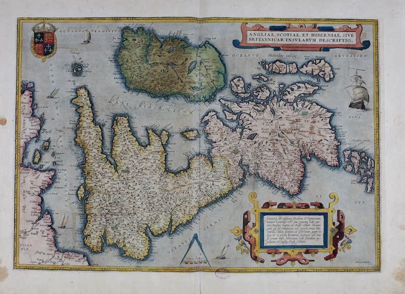 Theatrum Orbis Terrarum - Angliae, Scotiae et Hiberniae sive Britannicar Insularum Descriptio (1570)