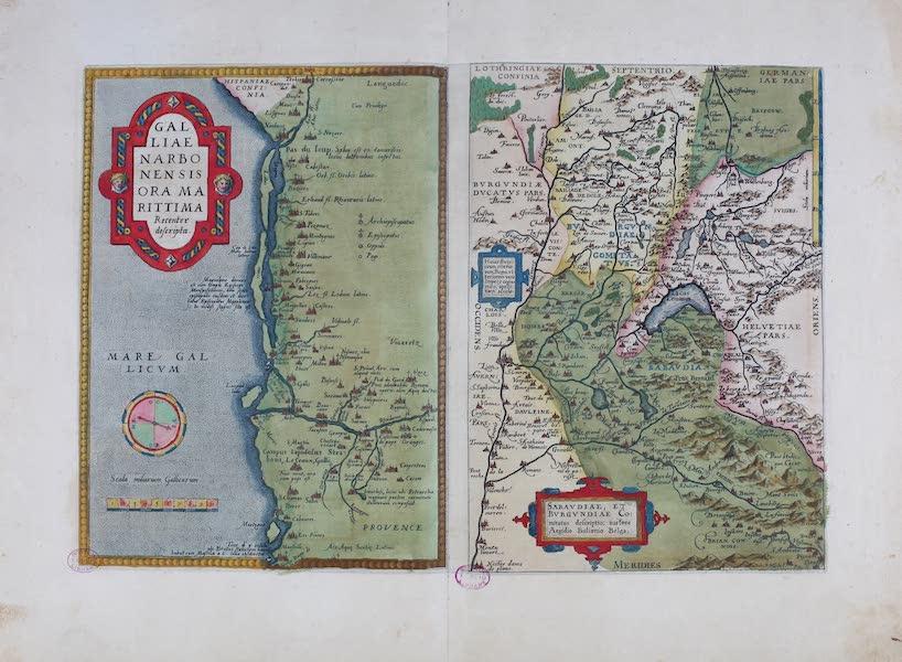 Theatrum Orbis Terrarum - Galliae Narbonensis et Sabaundiae et Burgundiae (1570)