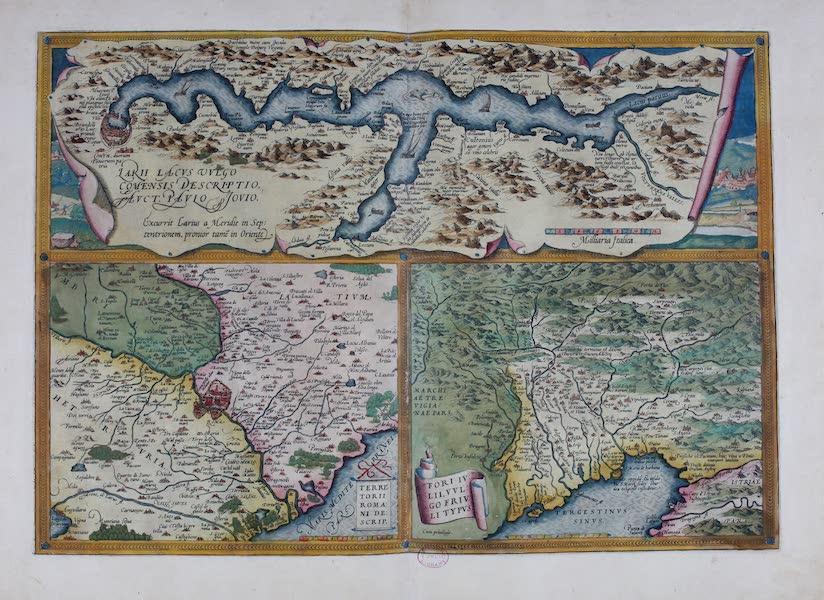 Theatrum Orbis Terrarum - Lakii Lacus Vulgo Terretorii Romani Descrip Fori Iulii (1570)