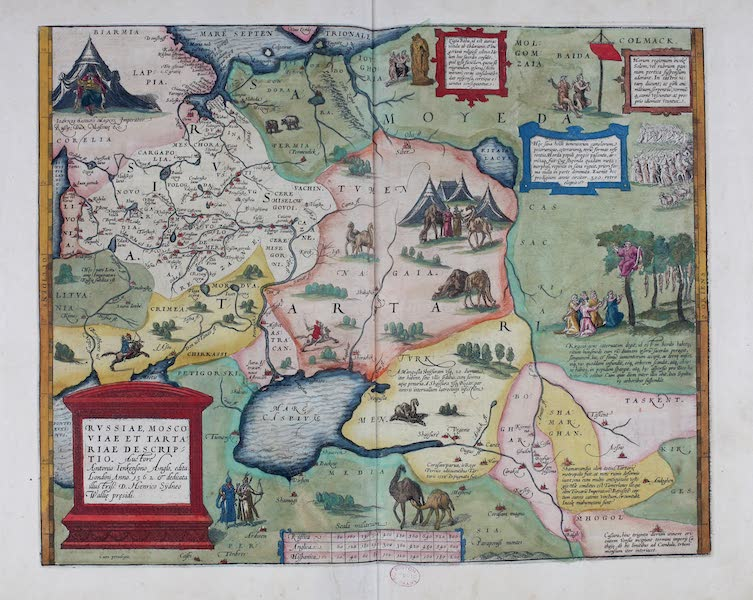 Theatrum Orbis Terrarum - Russiae, Moscoviae et Tartariae Descriptio (1570)
