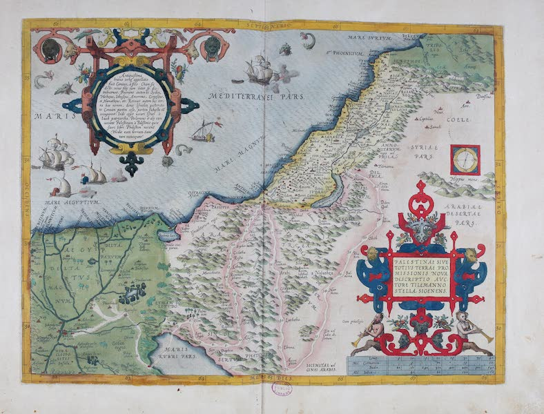 Theatrum Orbis Terrarum - Palestinae Sive Totius Terrae (1570)