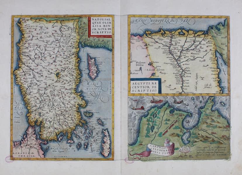 Theatrum Orbis Terrarum - Natoliae / Aegypti, Recentior Descriptio / Carthaginis Celeberrim Sinus Typis (1570)