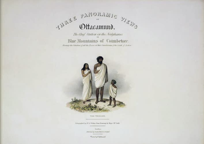 Three Panoramic Views of Ottacamund (1830)