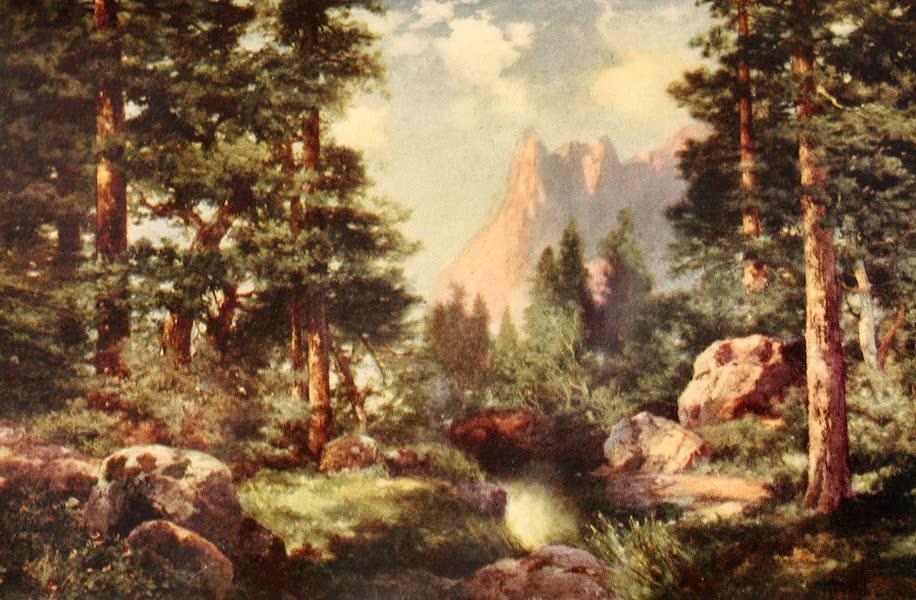 Three Wonderlands of the American West - Sentinel Rock Through the Pines, Yosemite Valley (1912)