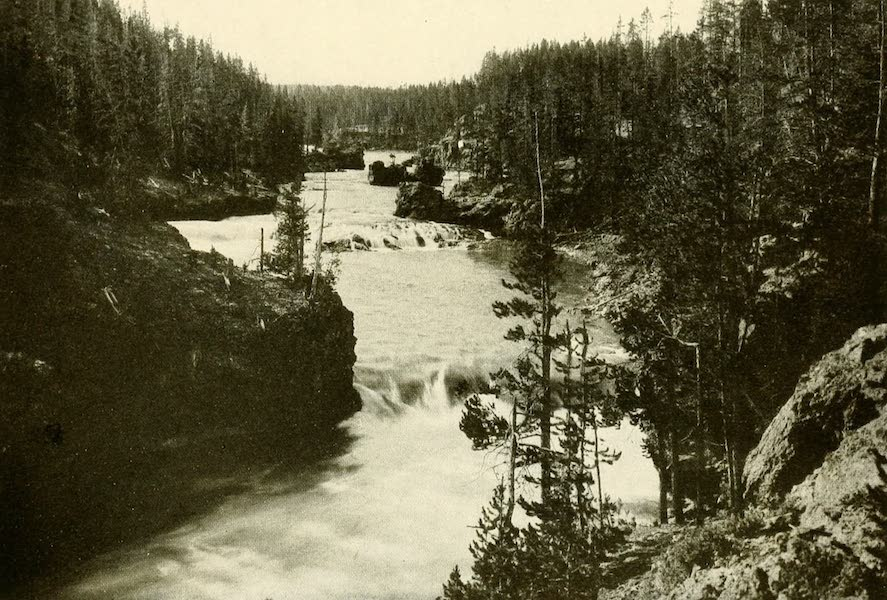 Three Wonderlands of the American West - Rapids Above Upper Falls, Yellowstone Park (1912)