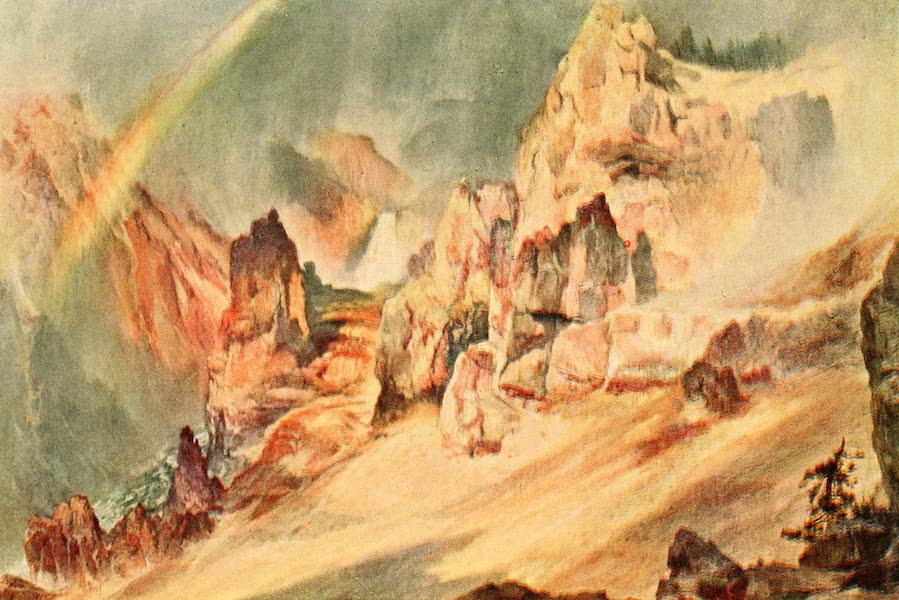 Three Wonderlands of the American West - A Passing Shower, Canyon of the Yellowstone (1912)