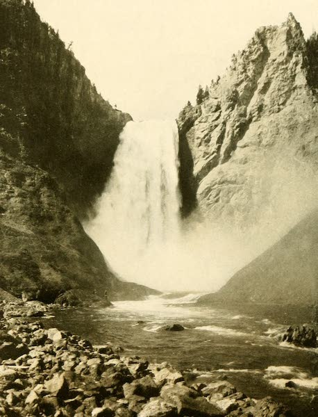 Three Wonderlands of the American West - Great Falls from Below, Yellowstone Park (1912)