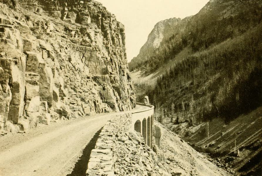 Three Wonderlands of the American West - Road Through Golden Gate Canyon, Yellowstone Park (1912)