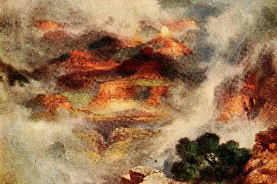 Three Wonderlands of the American West - Mist After Rain, Grand Canyon (1912)