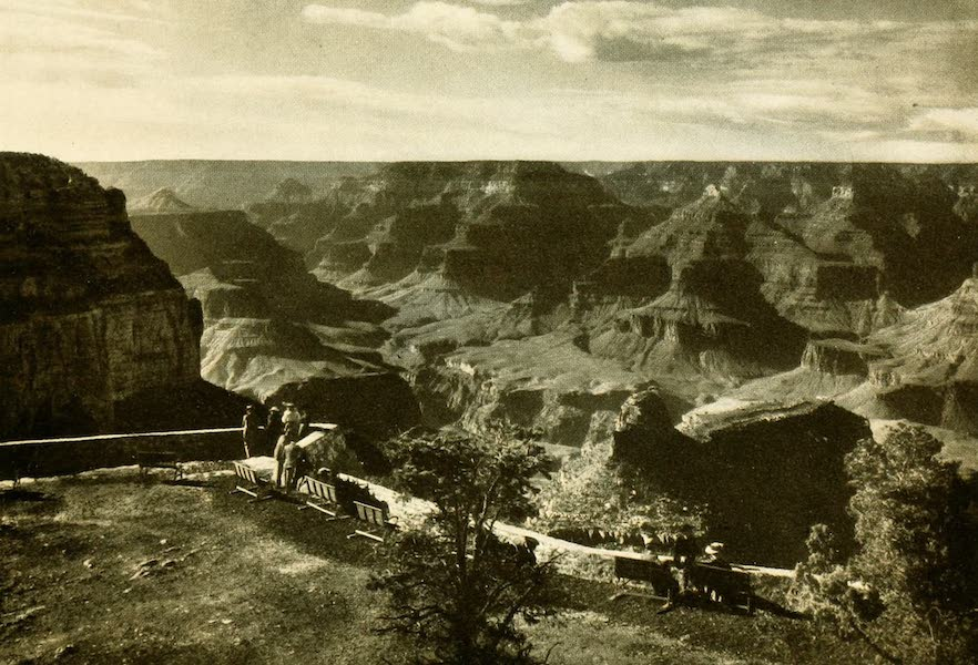 Three Wonderlands of the American West - View from Terrace, El Tovar, Grand Canyon (1912)
