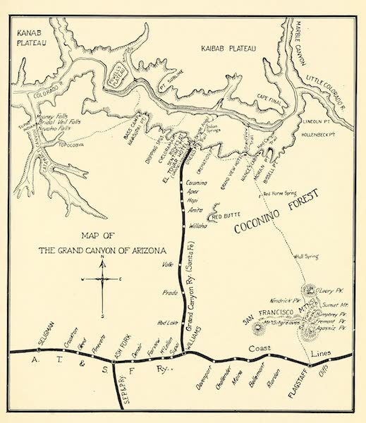Three Wonderlands of the American West - Map of the Grand Canyon Region (1912)