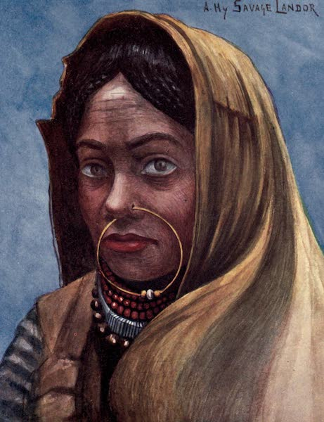 Tibet and Nepal, Painted and Described - A Nepalese Woman (1905)