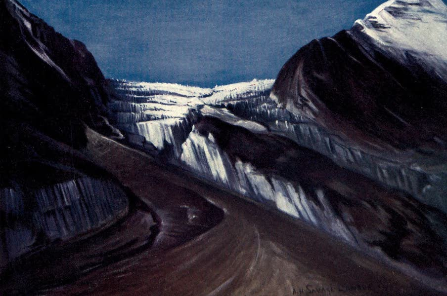 Tibet and Nepal, Painted and Described - The Elfrida Landor Glacier, Nepal (1905)