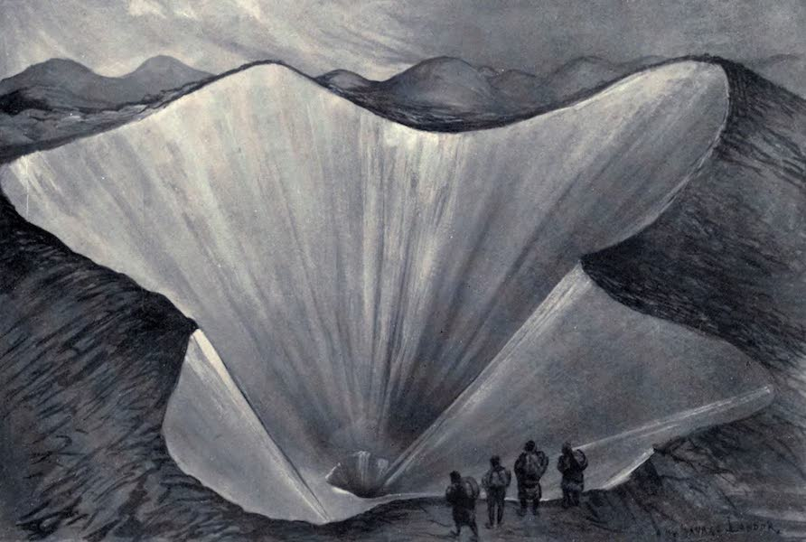Tibet and Nepal, Painted and Described - Funnels in the Moraine Ice (1905)