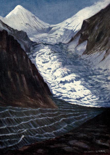 Tibet and Nepal, Painted and Described - The Armida Landor Glacier, Nepal (1905)