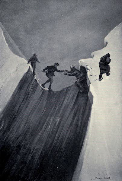 Tibet and Nepal, Painted and Described - A Perilous Crossing (1905)