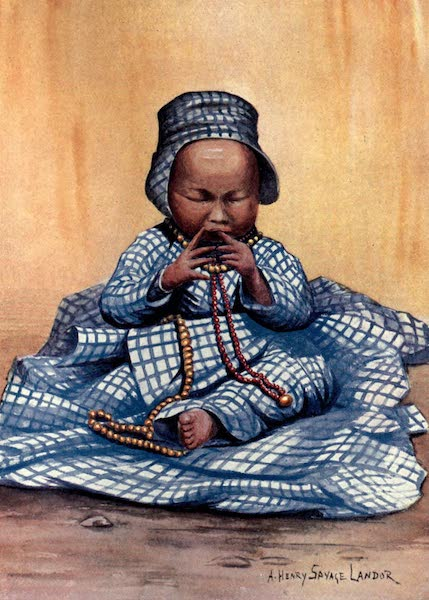 Tibet and Nepal, Painted and Described - A Tibetan Baby Girl (1905)