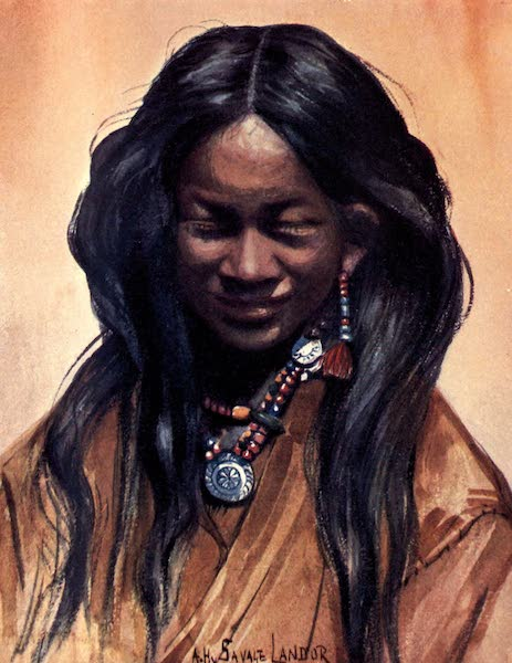 Tibet and Nepal, Painted and Described - A Tibetan Girl (1905)