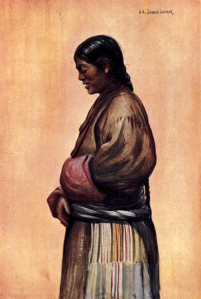 Tibet and Nepal, Painted and Described - Tibetan Woman of the Commoner Class (1905)