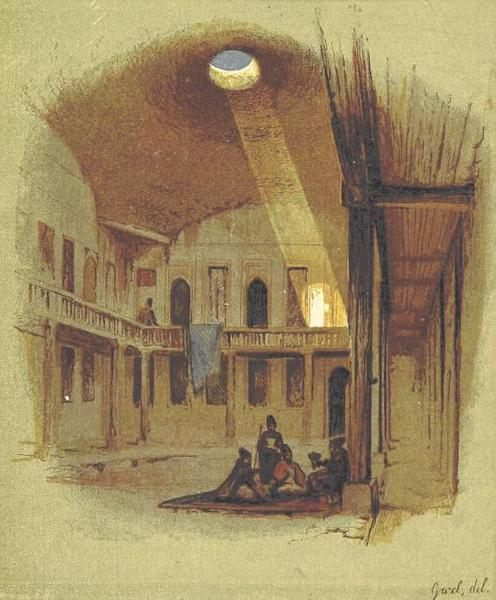 Transcaucasia. Sketches of the Nations and Races - Georgian Nobleman's House in Tiflis (1854)