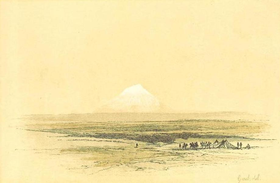 Transcaucasia. Sketches of the Nations and Races - Mount Elbrouz Seen from the Steppes (1854)