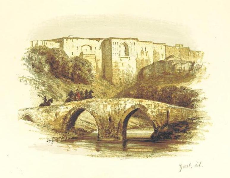 Transcaucasia. Sketches of the Nations and Races - Bridge and Fortress at Erivan (1854)