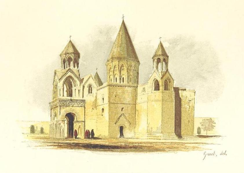 Transcaucasia. Sketches of the Nations and Races - Cathedral of Echmiadzin (1854)