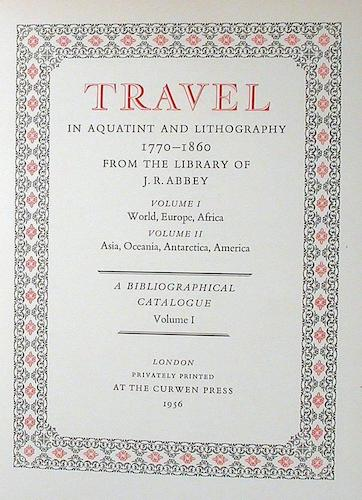 World - Travel in Aquatint and Lithography Vol. 1