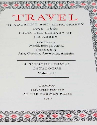 Andes - Travel in Aquatint and Lithography Vol. 2