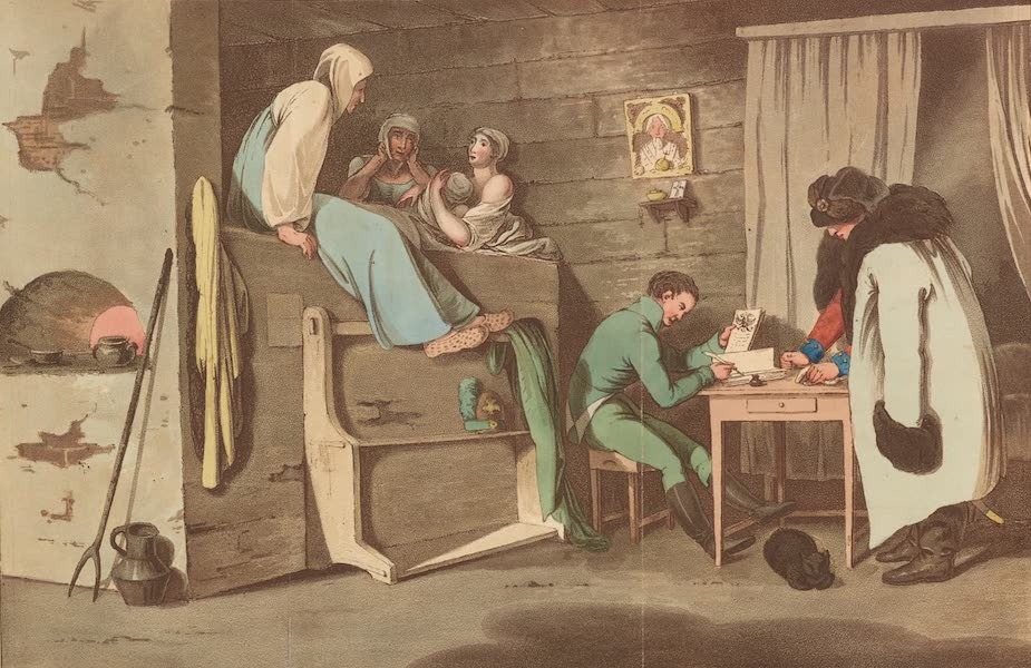 Travelling Sketches in Russia and Sweden Vol. 1 - The Inside of a Russian Post-House (1809)