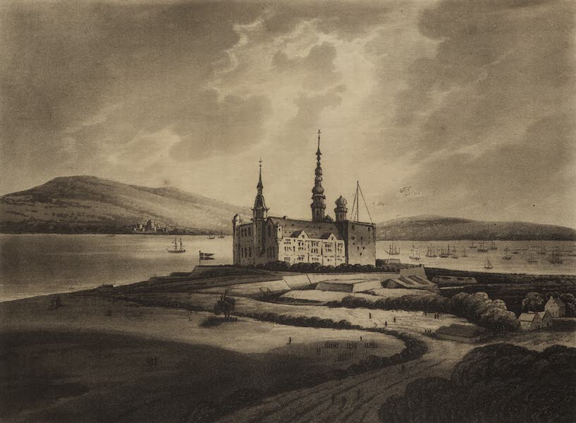 Travelling Sketches in Russia and Sweden Vol. 1 - A View of Elsineur Castle from Hemlet's Garden (1809)
