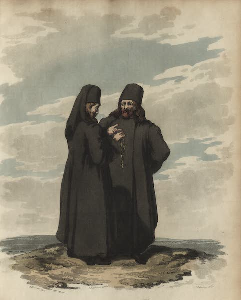 Travelling Sketches in Russia and Sweden Vol. 1 - Monks of St. Basil (1809)