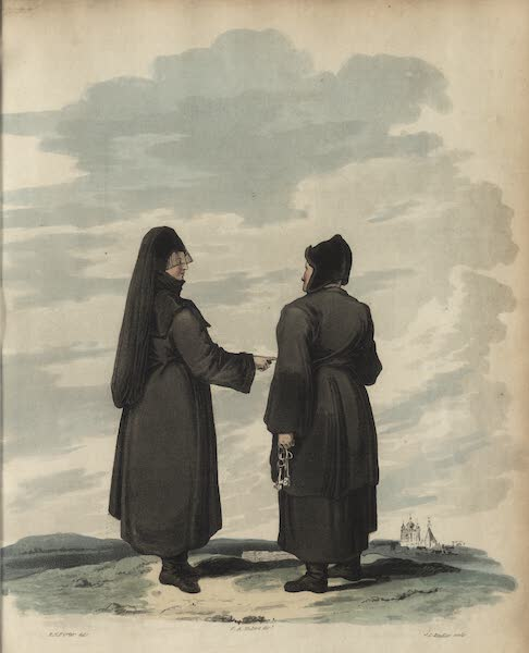 Travelling Sketches in Russia and Sweden Vol. 1 - Nuns of St. Basil (1809)