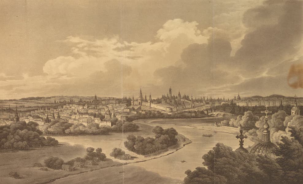 Travelling Sketches in Russia and Sweden Vol. 1 - A View of Moscow (1809)