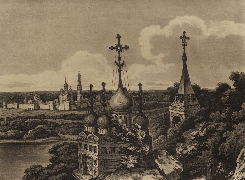 Travelling Sketches in Russia and Sweden Vol. 1 - View of the Monasteries of Devitchy (1809)
