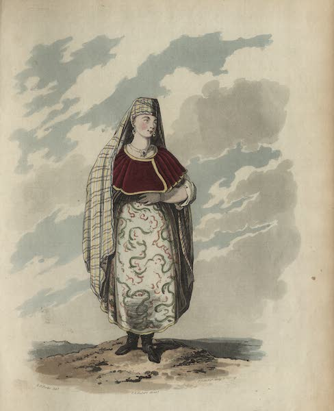 Travelling Sketches in Russia and Sweden Vol. 1 - A Russian Trademan's Wife in Her Gala Dress (1809)