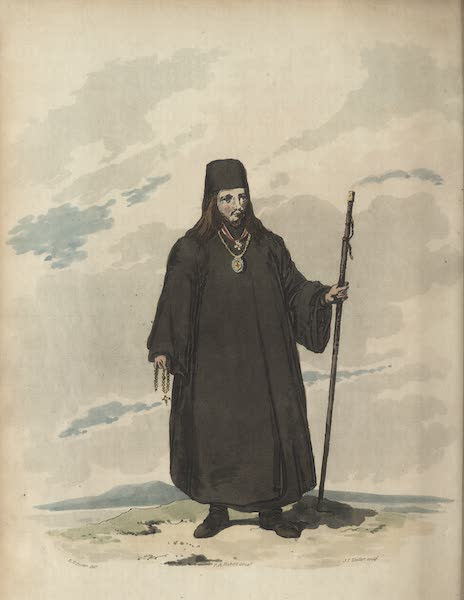 Travelling Sketches in Russia and Sweden Vol. 1 - An Archimandrite in His Ordinary Habit (1809)
