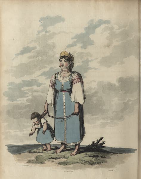 Travelling Sketches in Russia and Sweden Vol. 1 - A Russian Peasant in Her Summer Dress (1809)