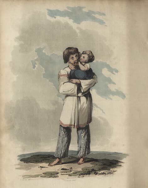 Travelling Sketches in Russia and Sweden Vol. 1 - A Russian Peasant in His Summer Dress (1809)