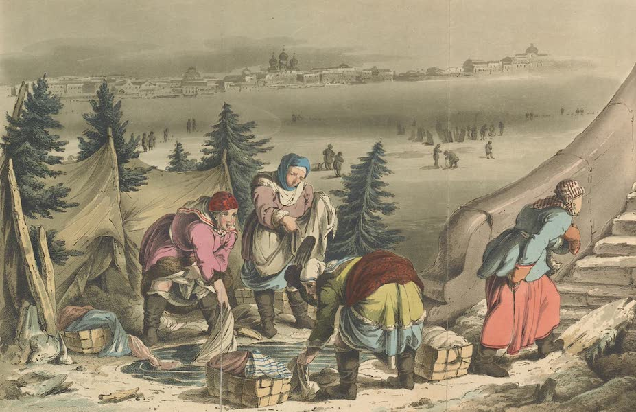 Travelling Sketches in Russia and Sweden Vol. 2 - Swedish Washerwomen (1809)