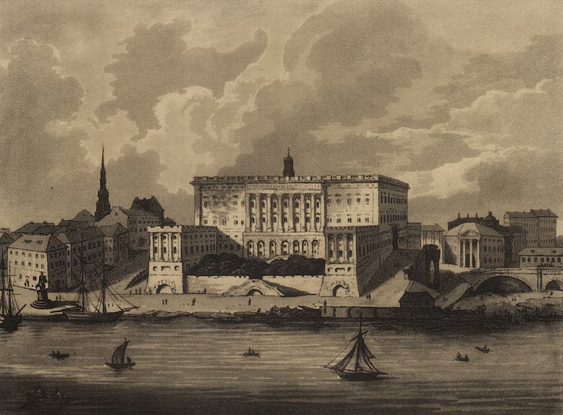 Travelling Sketches in Russia and Sweden Vol. 2 - The Palace at Stockholm (1809)