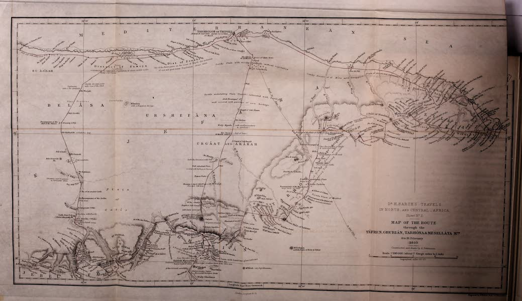 Travels and Discoveries in North and Central Africa Vol. 1 - Route through the Mountainous Region of Tripoli (1857)