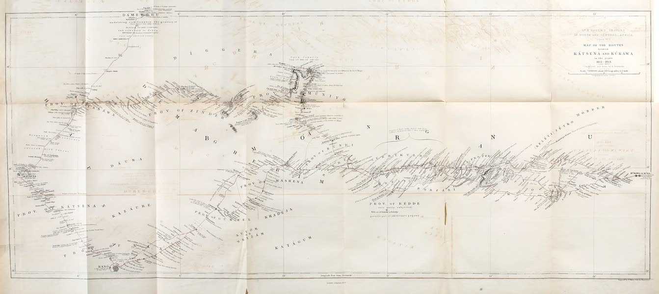 Travels and Discoveries in North and Central Africa Vol. 2 - Routes between Katsena and Kukawa (1857)