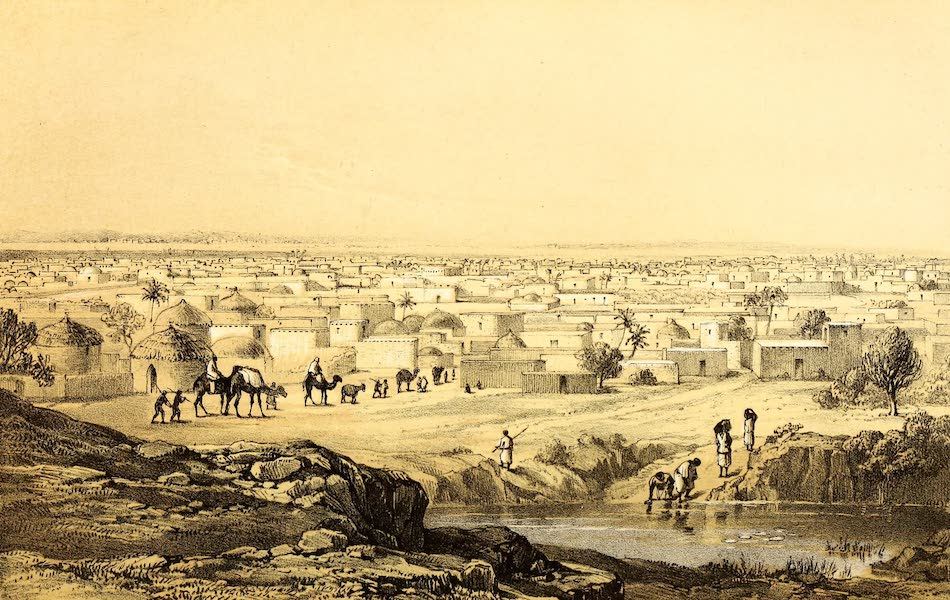 Travels and Discoveries in North and Central Africa Vol. 2 - Kano from Mount Dala (1857)