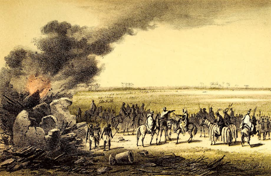 Travels and Discoveries in North and Central Africa Vol. 3 - Encampment in Forest (1857)