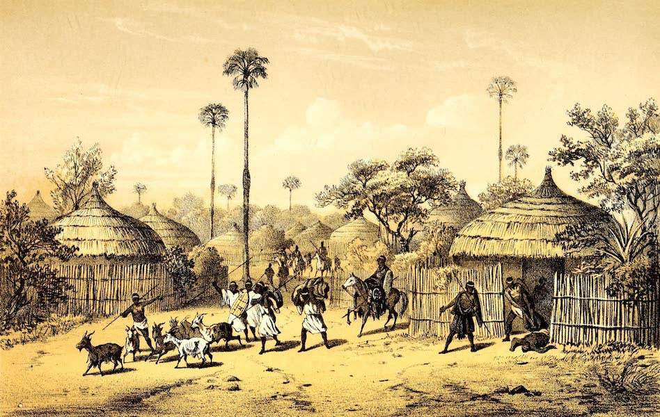 Travels and Discoveries in North and Central Africa Vol. 3 - Landscape in Wuliya (1857)