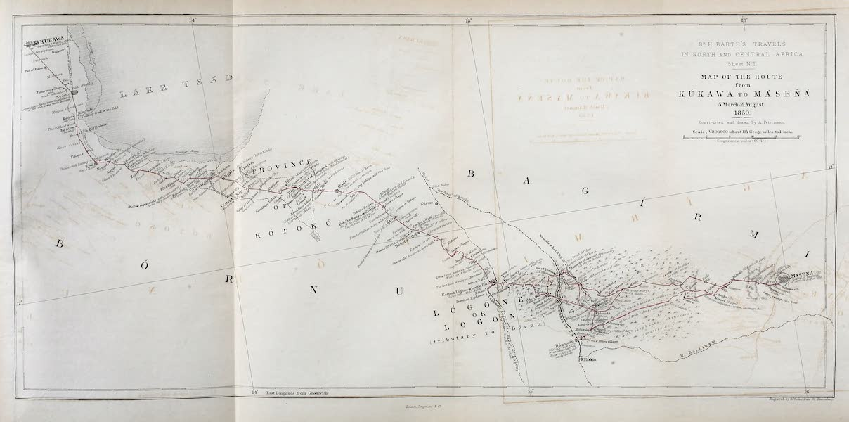 Travels and Discoveries in North and Central Africa Vol. 3 - Encampment at Waza (1857)
