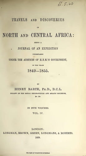 Getty Research Institute - Travels and Discoveries in North and Central Africa Vol. 4